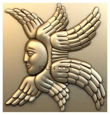 Angels (AN_0062) - 3D model for CNC
