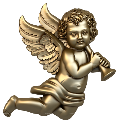 Angels (AN_0004) - 3D model for CNC