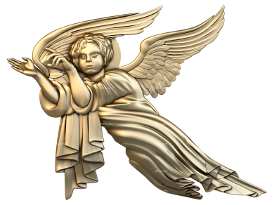 Angels (AN_0011) - 3D model for CNC