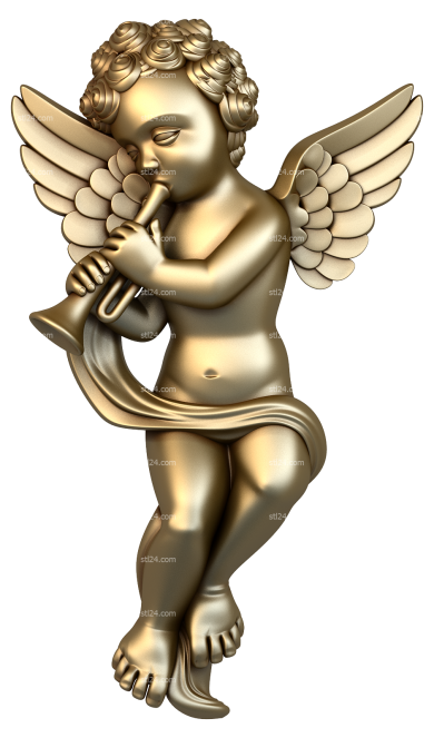 Angels (AN_0027) - 3D model for CNC