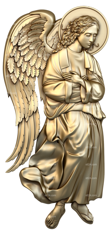 Angels (AN_0028) - 3D model for CNC