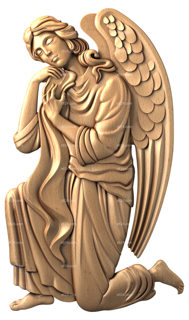 Angels (AN_0036) - 3D model for CNC