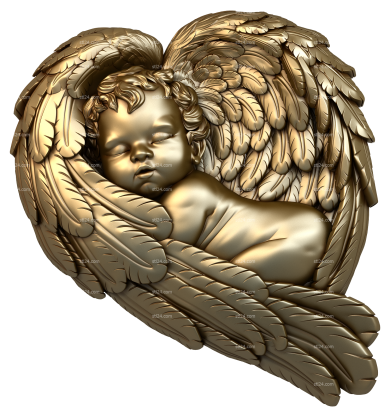 Angels (AN_0040) - 3D model for CNC