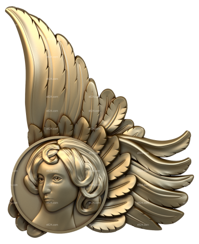 Angels (AN_0041) - 3D model for CNC