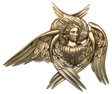 Angels (AN_0047) - 3D model for CNC