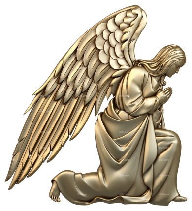 Angels (AN_0050) - 3D model for CNC