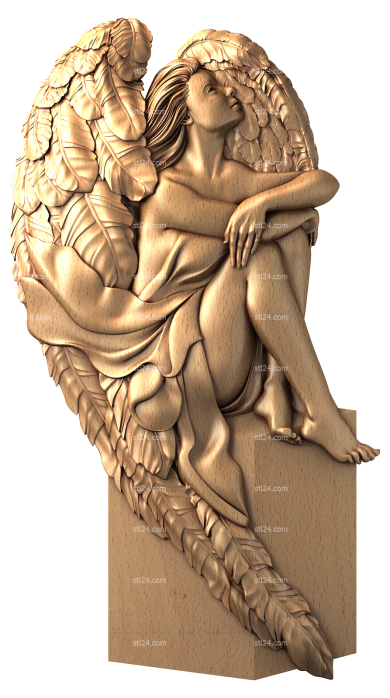 Angels (AN_0055) - 3D model for CNC