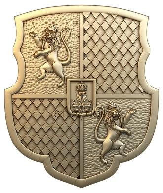 Coat of arms (GR_0033) - 3D model for CNC