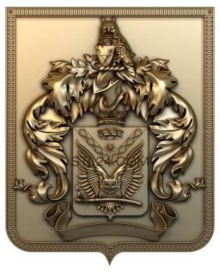 Coat of arms (GR_0042) - 3D model for CNC