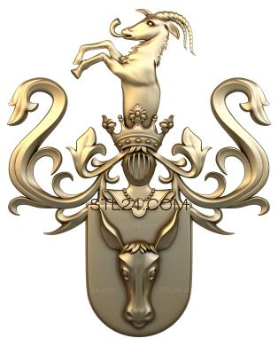 Coat of arms (GR_0058) - 3D model for CNC
