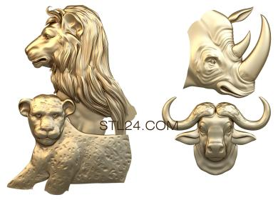 Animals (JV_0063) - 3D model for CNC