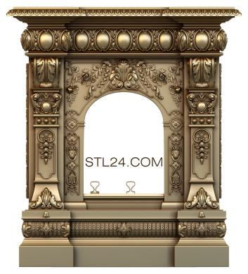 Fireplaces (KM_0038) - 3D model for CNC