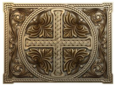 Church panel (PC_0004) - 3D model for CNC
