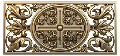 Church panel (PC_0035) - 3D model for CNC