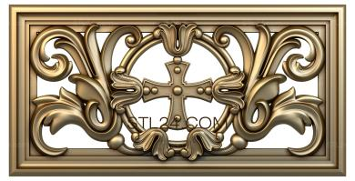 Church panel (PC_0048) - 3D model for CNC
