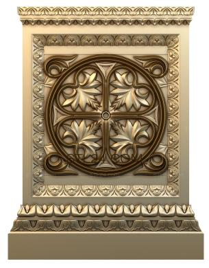 Church panel (PC_0053) - 3D model for CNC