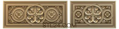 Church panel (PC_0058) - 3D model for CNC
