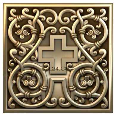 Church panel (PC_0066) - 3D model for CNC
