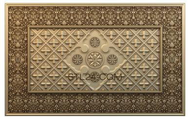 Church panel (PC_0090) - 3D model for CNC