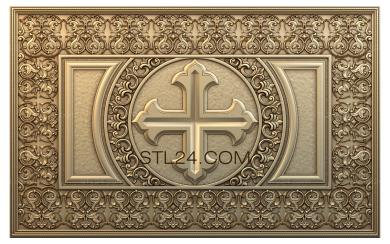 Church panel (PC_0091) - 3D model for CNC