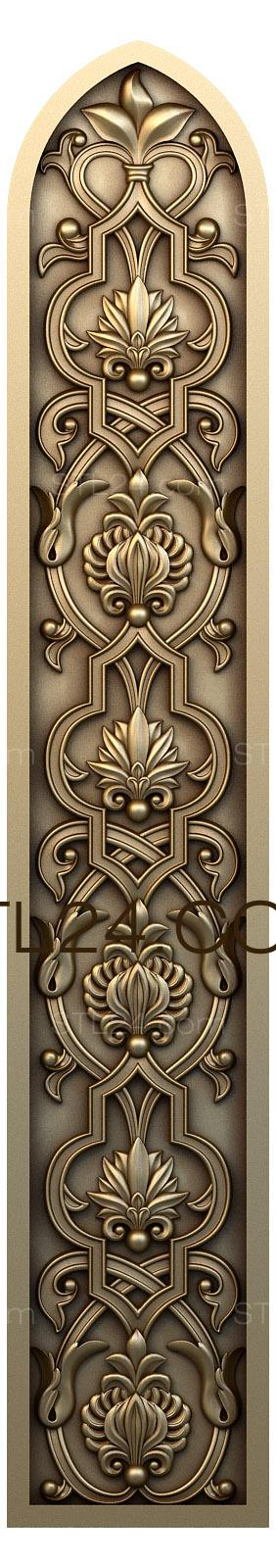 Church panel (PC_0095) - 3D model for CNC