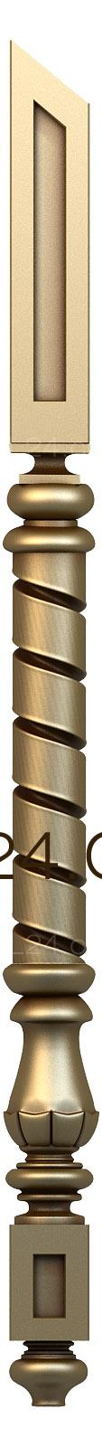 Pillar (ST_0016) - 3D model for CNC