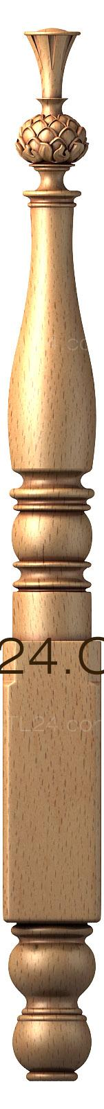 Pillar (ST_0189) - 3D model for CNC